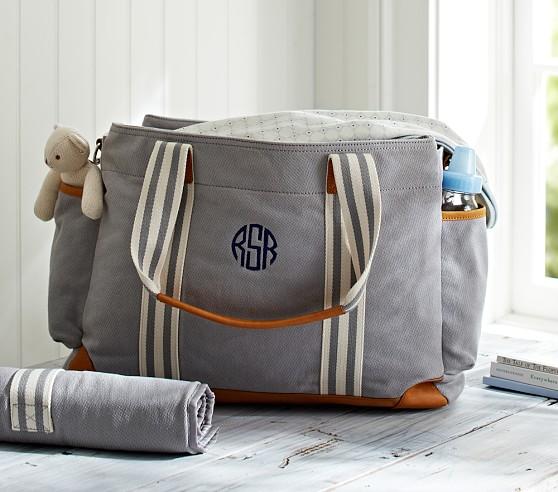 Gray Classic Diaper Bag