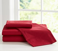 Organic Cotton Standard Pillowcase, Red