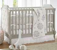 Genevieve Nursery Quilt Bedding Set, Toddler Quilt, Crib Skirt & Crib Fitted Sheet
