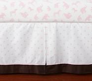 Animal Parade Crib Skirt, Pink
