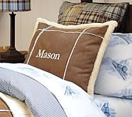 Sherpa Patch Decorative Pillow
