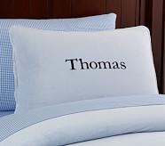 Chamois Pillowcase, Blue, Standard