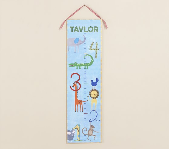 Personalized Jungle Animals Growth Chart
