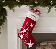 Stars Quilted Stocking