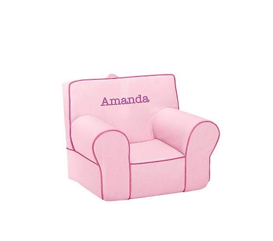 Anywhere Chair® Insert & Slipcover Set, Pink with Hot Pink Piping