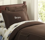 Cargo Duvet Cover, Twin, Brown