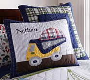 Busy Builder Construction Quilted Standard Sham,