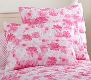 Lillian Floral Standard Quilted Sham, Pink