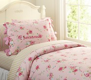 Savannah Floral Duvet Cover, Twin, Pink