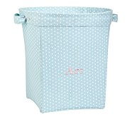 Aqua Mini Dot Large Canvas Bucket
