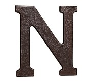 Faux Bronze Letter, N