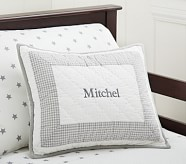 Peyton Small Quilted Sham, Gray