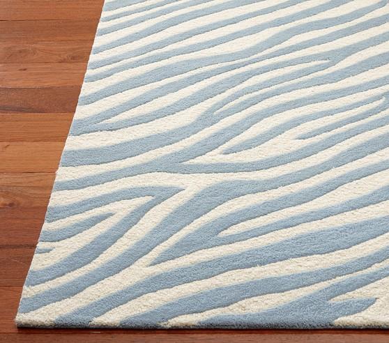 Animal Print Rug 3u0027 X 5u0027 Blue Zebra
