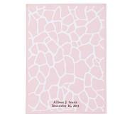 Animal Parade Stroller Blanket, Pink Giraffe