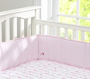 Penelope Nursery Crib Fitted Sheet, Pink/Chocolate