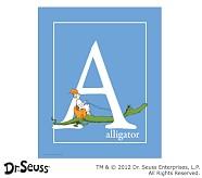 Dr. Seuss™ Alphabet Prints, Letter A, Blue, Alligator