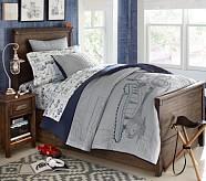 Carson Twin Bed & Dresser, Weathered Coastal