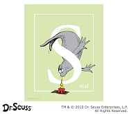 Dr. Seuss™ Alphabet Prints, Letter S, Light Green, Seal