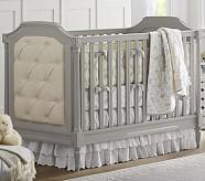 Lara Nursery Quilt Bedding Set: Toddler Quilt, Crib Skirt & Crib Fitted Sheet, Yellow/Gray