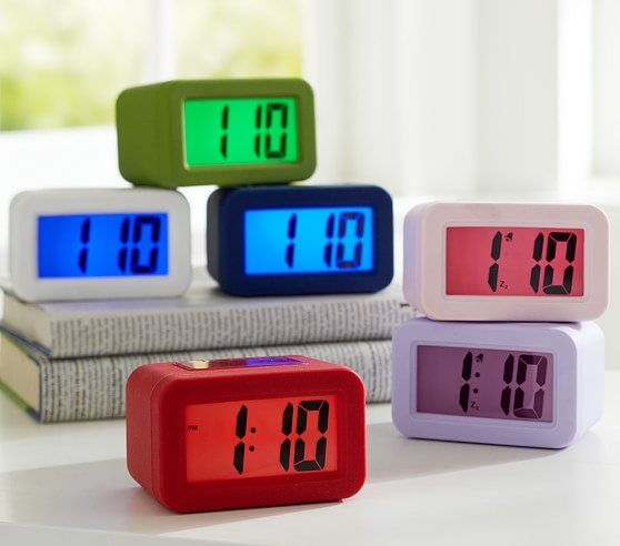 Digital Clock, White