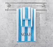 Rugby Stripe Bath Towel, Blue