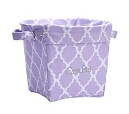 Printed Medium Canvas Storage , Lavender