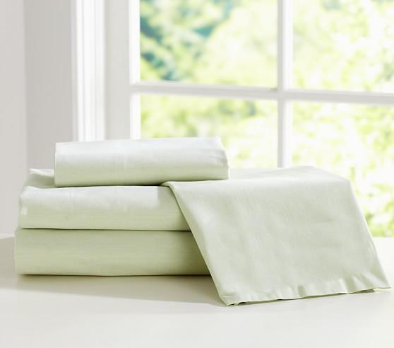 Chambray Sheet Set, Twin, Green