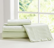 Chambray Pillowcase, Standard, Green