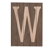 Wood Planked Letter, W