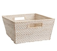 Extra Large Quinn White Washed Basket