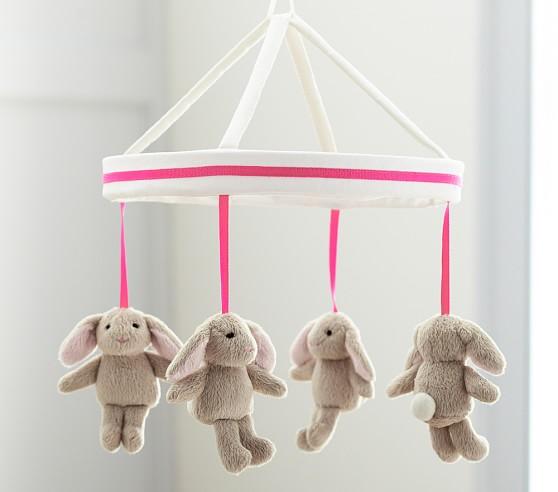 Bright Pink Harper Bunny Mobile