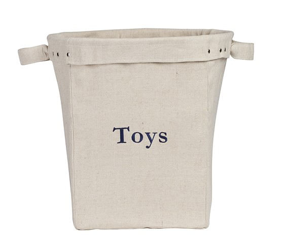 Large Canvas Bucket, Natural