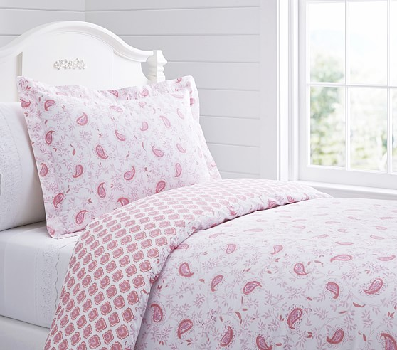 Lara Duvet Cover, Twin, Pink
