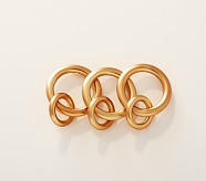 Gold Metal Double Rings