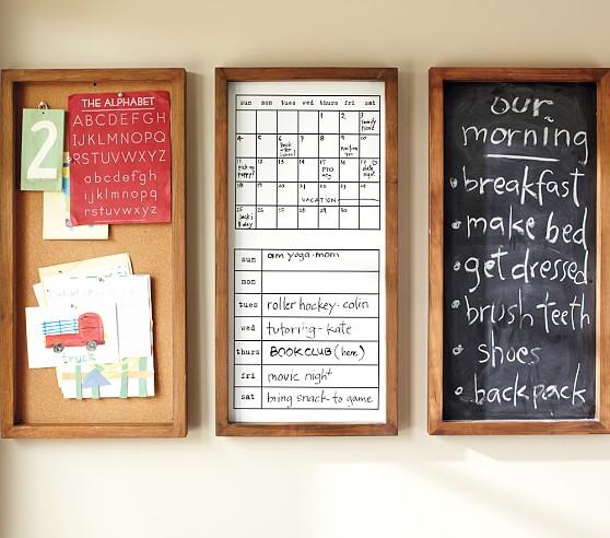 Rustic Pine Daily System, Calendar White Board