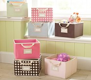 Bright Pink Large Canvas Box Storage