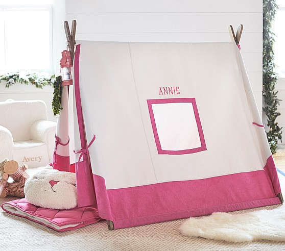 pink a frame tent pottery barn kids