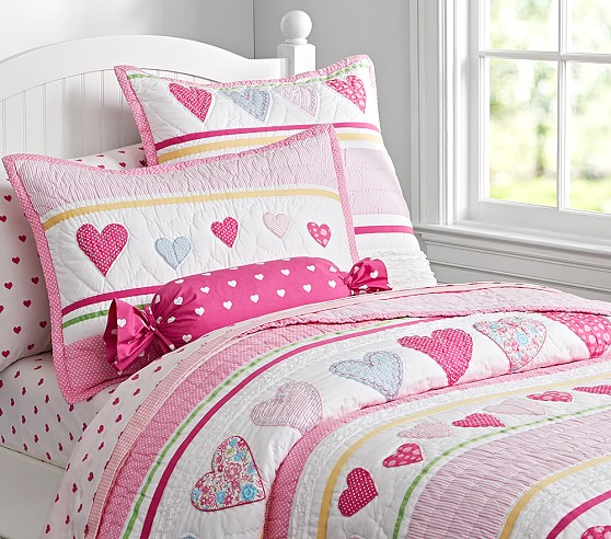 heart quilted bedding pottery barn kids