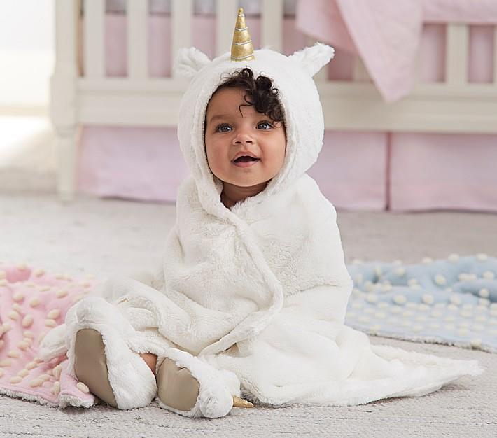 . Nursery Fur Unicorn Bath Wrap   Pottery Barn Kids