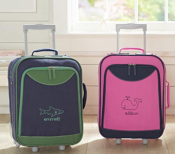 Preppy Club Small Rolling Luggage | Pottery Barn Kids