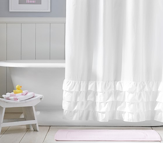 curtains ideas barn shower curtain ruffle bottom shower curtain pottery barn kids