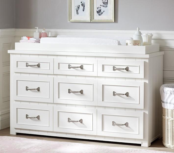 Belden Extra Wide Dresser U0026 Changing Table Topper | Pottery Barn Kids