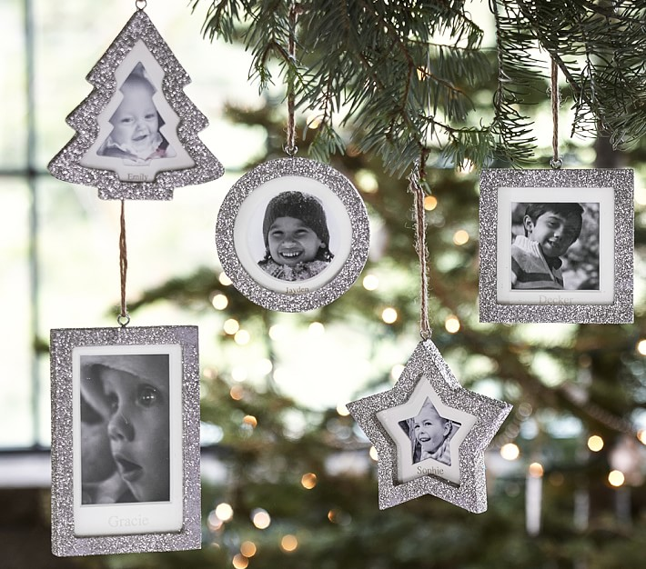 glitter frame ornaments pottery barn kids