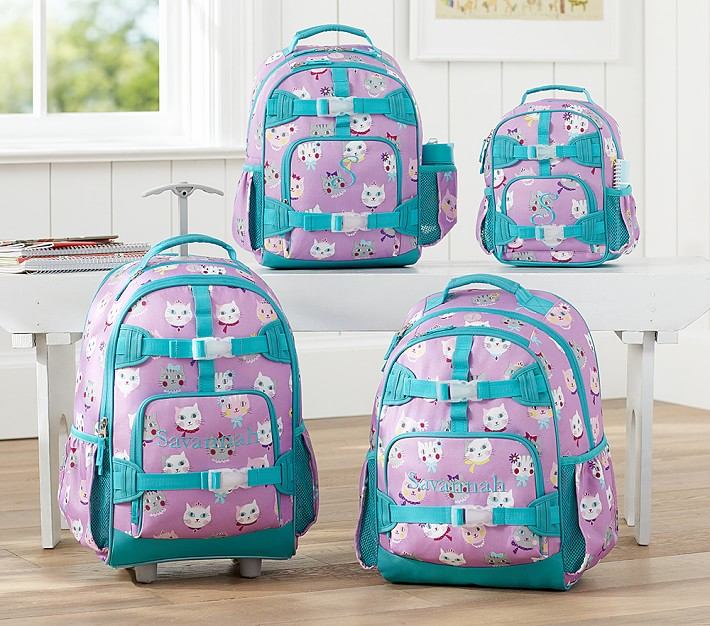 Mackenzie Lavender Kitty Backpacks | Pottery Barn Kids