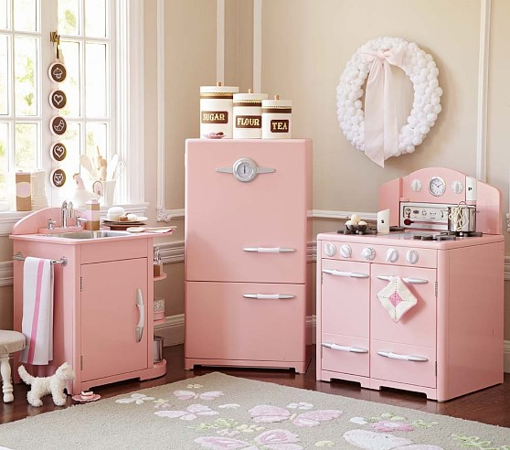 home shop all toys kitchens accessories pink retro kitchen