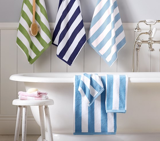. Rugby Stripe Bath Towel Collection   Pottery Barn Kids