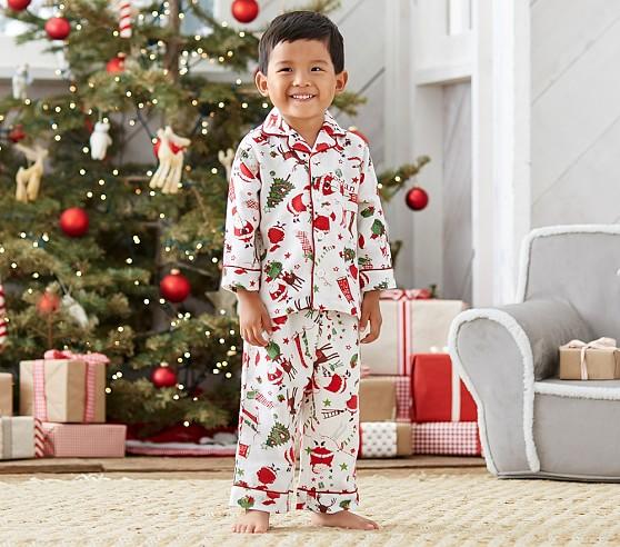 Santa Flannel Pajama | Pottery Barn Kids