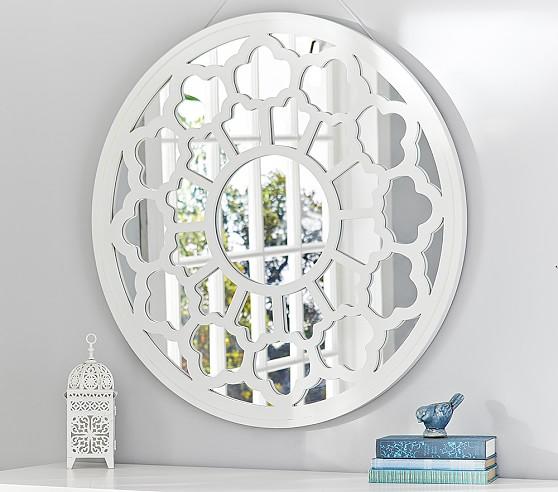 lattice frame mirror pottery barn kids