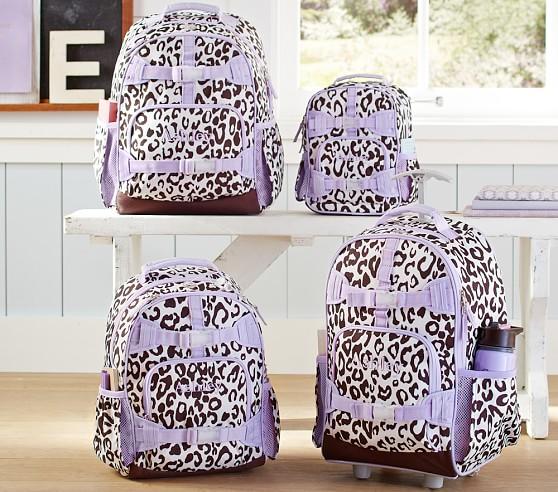Mackenzie Lavender Cheetah Backpacks | Pottery Barn Kids