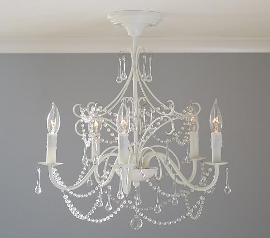mia flushmount chandelier  pottery barn kids, Lighting ideas